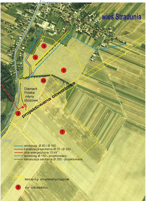 mapa lotnicza -tereny inwestycyjne wieś Stradunia KEW.jpg II.jpeg