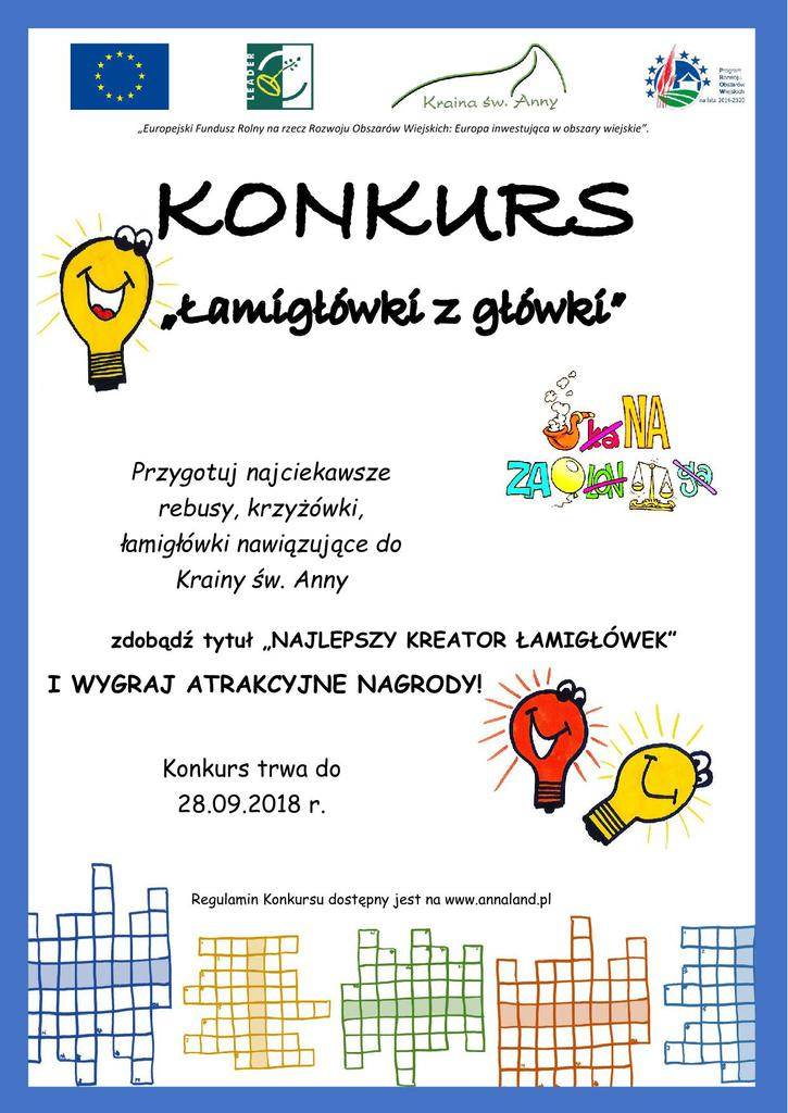 Plakat konkursu _Łamigłówki z główki_.jpeg