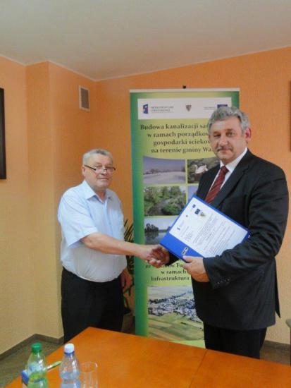 Galeria Podpisanie umowy kanalizacja Rozkochów