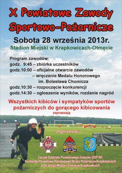 X Powiatowe Zawody Sportowo-Pożarnicze - 28 września 2013.jpeg
